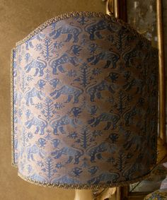 Venetian Lamp Shade Fortuny Fabric Richelieu by OggettiVeneziani, $169.00