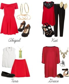 Happy Chinese New Year by stephlv featuring a red skirt I am not Chinese and I don't know much about the holiday. But hopefully this can give you some ideas of what to wear :)