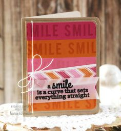 Card by Laurie Schmidlin. Reverse Confetti stamp sets: You Make Me Smile and Arrows 'n Elements. Friendship card. Encouragement card.