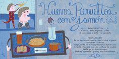 Cositas Ricas Ilustradas por Pati Aguilera Chefs, Chilean Recipes, Chilean Food, Vintage Drawing, Food Illustrations, Food Art, Salsa, Aguilera, Graphics