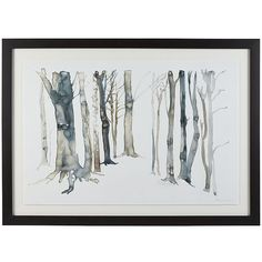 Crate & Barrel Hidden Path Print (665 CAD) ❤ liked on Polyvore featuring home, home decor, wall art, decor, framed paintings, white wall art, framed wall art, white trees and white home decor