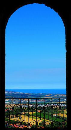Italy, Marche, Recanati -balcony #3, Adriatic Sea- by Gianni Del Bufalo