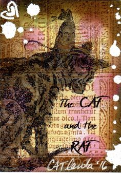 2016 ATC Art by CATlanta, The Cat and The Rat
