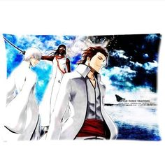 Aizen Sousuke Bleach Ichimaru Gin Tousen Kaname Pillowcase Rectangle Zippered Two Sides Design Printed 20x36 pillows Throw Pillow Cover Cushion Case Covers * Trust me, this is great! Click the image. : DIY : Do It Yourself Today