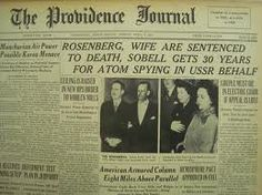 Rosenbergs Death Sentence -  On April 5, 1951, Julius and Ethel Rosenberg were sentenced to death for conspiring to commit espionage for the Soviet Union