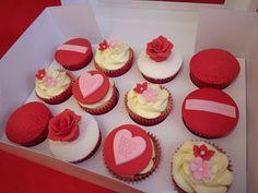 Valentines cupcakes  www.icequeencakes.co.uk