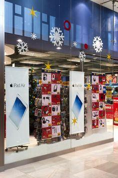Bílé Vánoce ve výlohách Datart