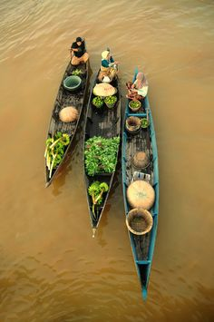 "earth-song:    Three of Us"" by Rindra Lens  Floating Market at Lok Baintan Banjarmasin"