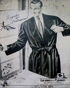 """El saco """"fumoir"""" infaltable para el hombre elegante para estar """"entre casa"""" (1940-1950)"""
