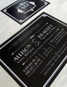 Art Deco Invitation Set by DesignByTanya on Etsy Art Deco Invitations, Invitation Set, Invites, Wedding Invitations, Gatsby Themed Party, Wedding Paper, Paper Goods, Party Themes, Inspiration