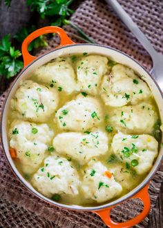 This easy recipe for chicken and dumplings screams comfort food. A hearty recipe using roasted chicken and fluffy buttermilk and chives dumplings that's simple to make and the whole family will love.