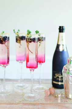 Do you want to give your classic Champagne cocktail a unique modern twist? Try something different with our 'Blackberry Thyme Sparkler'.