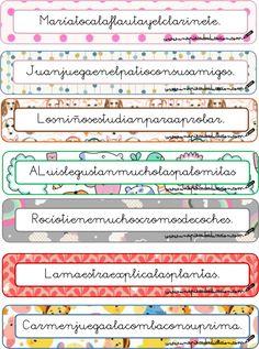 separar frases Daily Five, Spanish Class, Reggio Emilia, Spanish Language, Primary School, Third Grade, Grammar, Sentences, Literacy