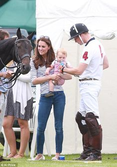 Prince George kicks a ball and takes some steps at Cirencester Polo Club | Mail Online