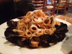 Seafood spaghetti plate special