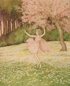 ≍ Nature's Fairy Nymphs ≍ magical elves, sprites, pixies and winged woodland faeries - Morning by Ida Rentoul Outhwaite