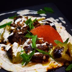 Blood orange and habanero braised oxtail tacos. From Chef Louis ...