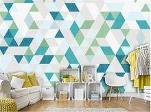 3d carta da parati personalizzata mural decorazione pittura non tessuto photo fashion geometrica poligono 3d murales wallpaper per pareti 3 d(China)