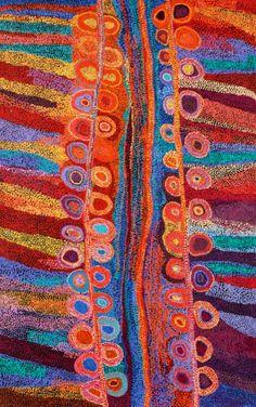 Wawiriya Burton. Acrylic on linen.