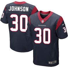 ec81030f8 Nike Elite Kevin Johnson Navy Blue Men s Jersey - Houston Texans  30 NFL  Home Blue