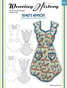 1940's Apron.  If there's a pic of the pattern envelope, maybe someone still has a pattern for this?  or, if you're creative, design it all over again.