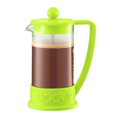 Bodum Brazil French Press 3-Cup Coffee Maker. The Bodum Brazil French Press Coffeemaker was first designed in the early 80's, and quickly became a symbol of what Bodum stands for: functional design at