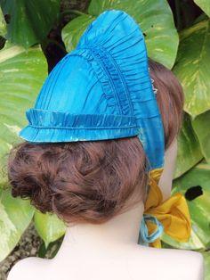 Original 1860s Gathered Silk Bonnet C 1865 1867 | eBay