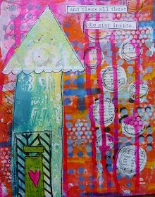 Made by Nicole: Art Journal Page: Home