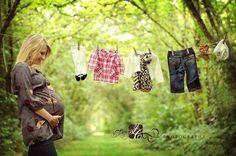 maternity photo clothesline
