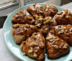 Walnut Scones with Maple Glaze