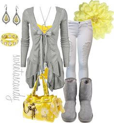 """mellow yellow..."" by sweetlikecandycane ❤ liked on Polyvore"