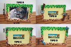 Minecraft decoration photo frame. Hama Beads by DecorarteLeon