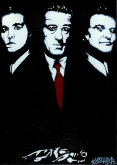 5X7 GoodFellas (Ray Liotta, Robert De Niro, Joe Pesci) Airbrush Stencil Graffiti Art on Etsy, $28.21 CAD
