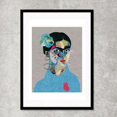 Frida llustration art giclée print A4 A3 A2 par ZanetaAntosik
