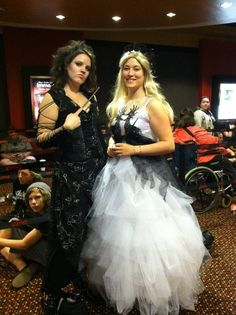 My best friends @Kristen Parody and @Kristin Janssen in the Ballatrix and Fleur costumes I made them for The Deathly Hallows part 2