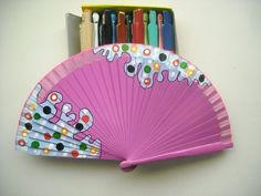 Costume Accessories, Hand Painted, Gifts, Hand Fans, Andalucia, Vestidos, Painted Fan, Hearts Of Palms, Flamenco Dresses
