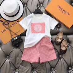 Toddler Boy Outfits, Kids Outfits Girls, Little Girl Outfits, Cute Girl Outfits, Girls Fashion Clothes, Cute Outfits For Kids, Baby Girl Fashion, Kids Fashion, Gucci Baby Clothes