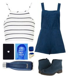 """""""Blue Suede Shoes."""" by anexushill ❤ liked on Polyvore featuring Topshop, Monet, Wanted and S'well"""