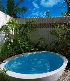 Sichtschutz Whirlpool Wanne Garten Palmen