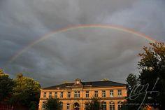 Perfekter Regenbogen bei Katja. Glücksmomente
