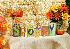 SPOOKY Halloween Blocks spooky blocks by SignsStuffnThings on Etsy
