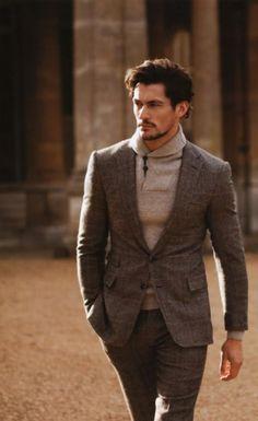 Fall brown Suit. David Gandy. #menswear. Gentlemen Style. Men's Fashion