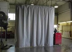 opaque curtain space divider, office