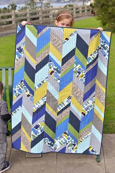 chevron quilt by ericajackman, via Flickr
