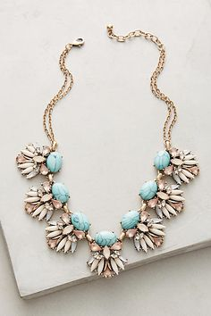 Dear Stylist: I love the pop of color that the turquoise brings to this necklace. Cute Jewelry, Jewelry Box, Jewelery, Jewelry Accessories, Jewelry Design, Women Jewelry, Fashion Jewelry, Geek Jewelry, Designer Jewelry