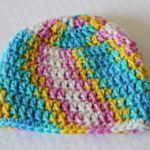 30 Minute Crochet Newborn Baby Beanie