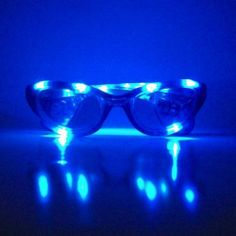 Colored LED Glasses - Blue Led Glasses - For Rave Party - Durable High Quality by GloFX. $8.30