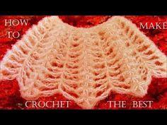 Como tejer a crochet bufanda fácil en punto conchas de abanico - Make Knitting Scarf Crochet - YouTube