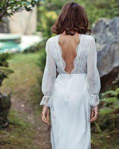 21 Best Of Greek Wedding Dresses For Glamorous Bride ❤ greek wedding dresses sheath v back with long sleeves lace lauredesazan #weddingforward #wedding #bride