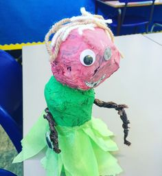 This pupil designed and made Mrs Twit complete with glass eye in her hand. Just goes to show if you give children autonomy with art materials, these are the kinds of excellent creative decisions you will see.